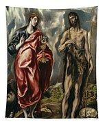 John The Baptist And Saint John The Evangelist Tapestry
