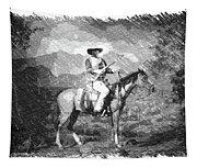 John Wayne At The Ready On Horseback Pa 01 Tapestry