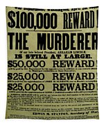 John Wilkes Booth Wanted Poster Tapestry