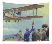 John William Alcock And Arthur Whitten Brown Who Flew Across The Atlantic Tapestry