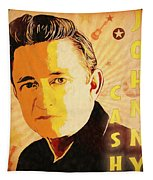 Johnny Cash Poster  Tapestry