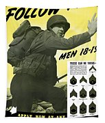 Join The Us Army - Follow Me Tapestry