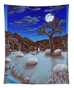 Joshua Tree At Night Tapestry