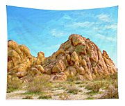 Joshua Tree Rocks Tapestry