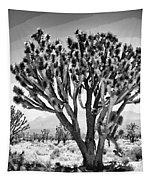 Joshua Trees Bw Tapestry