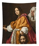 Judith Holding The Head Of Holofernes Tapestry