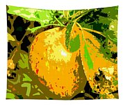 Juicy Apple On A Tree Tapestry