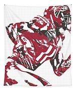 Julio Jones Atlanta Falcons Pixel Art 11 Tapestry