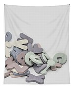 Jumbled Letters Tapestry by Scott Norris