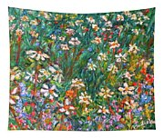 Jumbled Up Wildflowers Tapestry