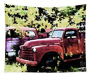 Junked Fire Engines Tapestry