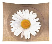 Just A Lonely Flower On Canvas Tapestry
