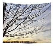 Just A Tree And Clouds Tapestry