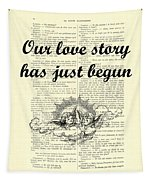 Just Married Wedding Gift Tapestry