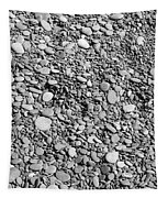 Just Rocks - Black And White Tapestry