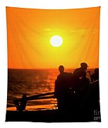 Kaanapali Beach Outrigger Sunset Tapestry