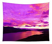 Kamloops Lake At Dawn Tapestry