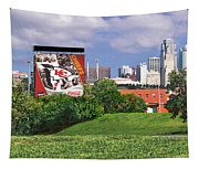 Kansas City Sky Line Tapestry