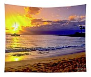 Kapalua Bay Sunset Tapestry