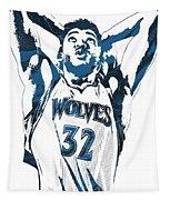 Karl Anthony Towns Minnesota Timberwolves Pixel Art Tapestry