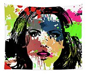 Kate Beckinsale Pop Art Tapestry