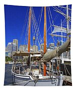 Kathleen Gillett The Artist Cruising Ketch Tapestry