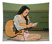 Katy Perry Painting Tapestry