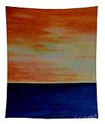 Kauai Sunset Under Vog Tapestry