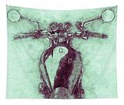 Kawasaki Z1 - Kawasaki Motorcycles 3 - 1972 - Motorcycle Poster - Automotive Art Tapestry