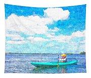 Kayak Lesson Tapestry