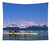 Kayakers In Alaska Tapestry