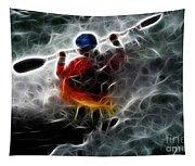 Kayaking In The Zone 3 Tapestry