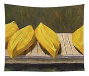 Kayaks On The Dock Tapestry