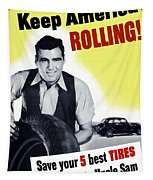 Keep America Rolling Tapestry