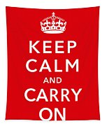 Keep Calm And Carry On Tapestry