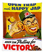 Keep Em Pulling For Victory - Ww2 Tapestry