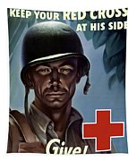 Keep Your Red Cross At His Side Tapestry by War Is Hell Store