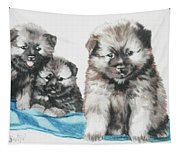 Keeshond Puppies Tapestry