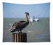 Key Largo Florida Pelican Yacht Tapestry
