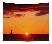 Key West Red Cloud Sunset Tapestry