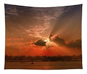 Key West Sunset Panoramic Tapestry