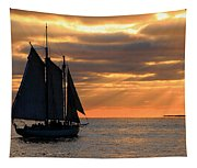 Key West Sunset Sail 6 Tapestry