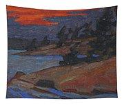Killbear Flagged Pines At Sunset Tapestry