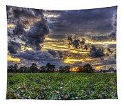 King Cotton Sunset Art Statesboro Georgia Tapestry