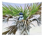King Fisher Palm Tapestry