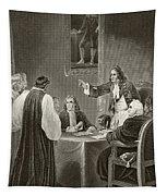 King James II Of England Facing Bishops Tapestry