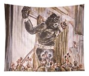King Kong - Flashbulbs Anger Kong Tapestry