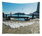 King Tide On The Boston Waterfront Boston Ma Tapestry