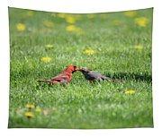 Kissing Cardinals Tapestry
