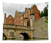 Kitchen Or Wren Bridge And St. Johns College From The Backs. Cambridge. Tapestry